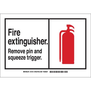 26588 B401 10X14 ANSI BLK,RED/WHT FIRE E