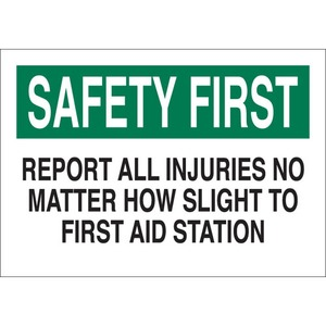 22653 FIRST AID SIGN