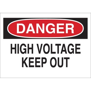 22103 ELECTRICAL HAZARD SIGN