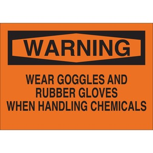 22378 CHEMICAL & HAZD MATERIALS SIGN
