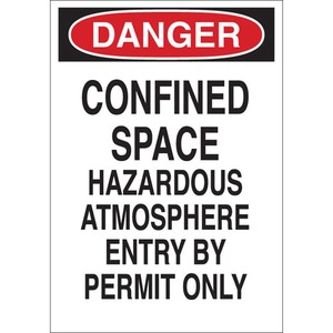 22432 CONFINED SPACE SIGN