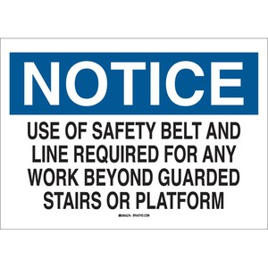 25626 FALL PROTECTION SIGN