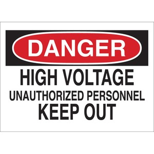 22106 ELECTRICAL HAZARD SIGN