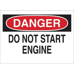 22960 MACHINE & OPERATIONAL SIGN