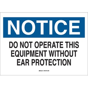 25484 EAR PROTECTION SIGN
