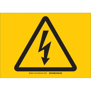 25162 ELECTRICAL HAZARD SIGN