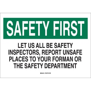 25317 SAFETY SLOGANS SIGN
