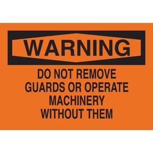 25027 MACHINE & OPERATIONAL SIGN