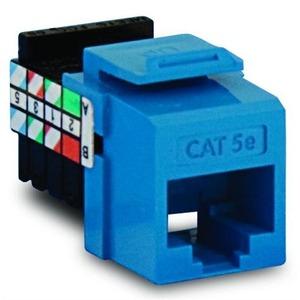 5G108RL5 BLUE CAT5E GIGAMAX JACK