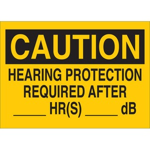 25466 EAR PROTECTION SIGN
