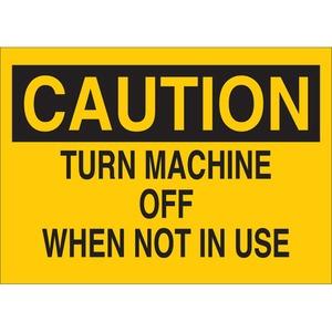 22937 MACHINE & OPERATIONAL SIGN