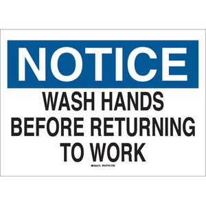 25149 PERSONAL HYGIENE SIGN
