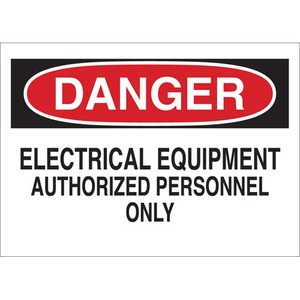 22093 ELECTRICAL HAZARD SIGN