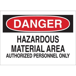 25442 CHEMICAL & HAZD MATERIALS SIGN