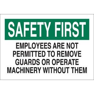 23071 MACHINE & OPERATIONAL SIGN