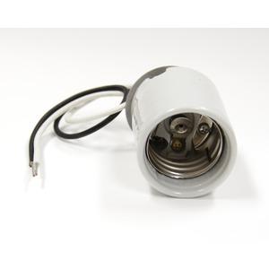 8756-300 WHT GLAZED PORC LAMPHOLD 16GA