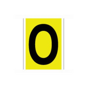 3470-O 34 SERIES NUMBER & LETTER CARD