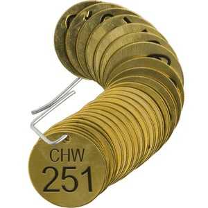 23526 STAMPED BRASS VALVE TAG