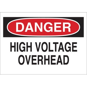 25547 ELECTRICAL HAZARD SIGN