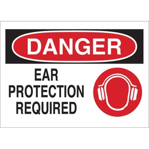 25896 EAR PROTECTION SIGN