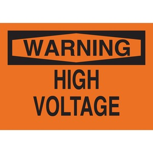 22563 ELECTRICAL HAZARD SIGN