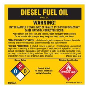 26117LS B-302 5X5 25/PK DIESEL FUEL OIL