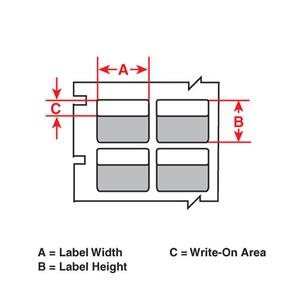 """B33-276-461 B33, B461, CLR/WHT, 1X2.625"""""""