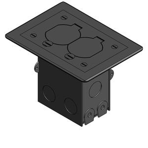 71WDSNC 1G FLOOR BOX KIT NICKEL PLATE