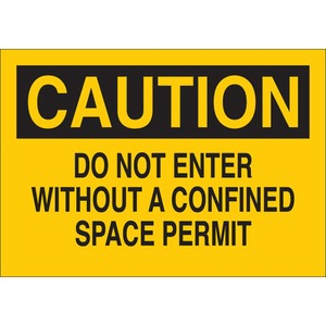 22064 CONFINED SPACE SIGN