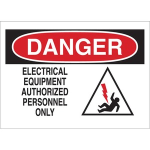 25897 ELECTRICAL HAZARD SIGN