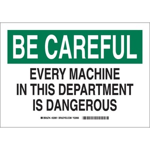 22862 MACHINE & OPERATIONAL SIGN