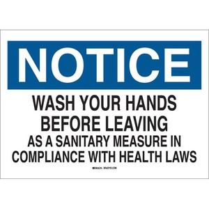 25152 PERSONAL HYGIENE SIGN