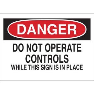 22953 MACHINE & OPERATIONAL SIGN