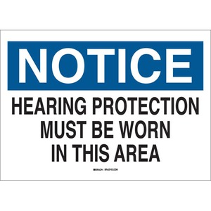 25491 EAR PROTECTION SIGN