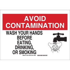 30705 B302 SAFETY SIGN 10X14 BLK/RED/WHT