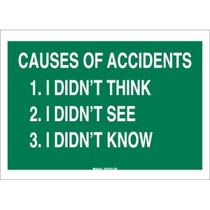 25347 SAFETY SLOGANS SIGN