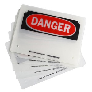 23361 LAMINATING POUCHES: DANGER