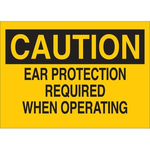 25461 EAR PROTECTION SIGN