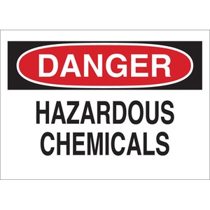 25441 CHEMICAL & HAZD MATERIALS SIGN