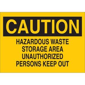 22709 CHEMICAL & HAZD MATERIALS SIGN