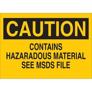 22270 CHEMICAL & HAZD MATERIALS SIGN