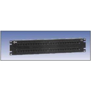 AX103261 NORDX 48 PORT PATCH PANEL BLK