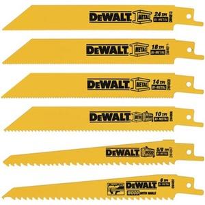 DW4856 6 PC METAL/WOOD RECIP SAW BLAD