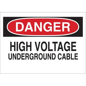 25551 ELECTRICAL HAZARD SIGN