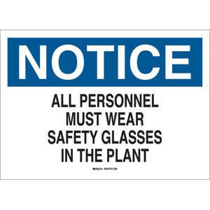 22622 EYE PROTECTION SIGN