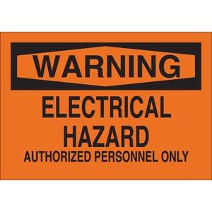 22198 ELECTRICAL HAZARD SIGN