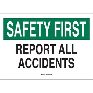 35478 B302 SAFETY SIGN 10X14 BLK/GRN/WHT