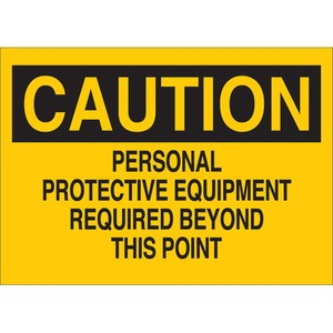 25204 PROTECTIVE WEAR SIGN