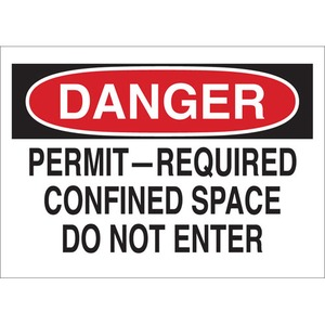 25920 CONFINED SPACE SIGN
