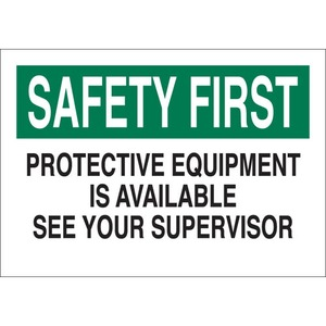 25243 PROTECTIVE WEAR SIGN